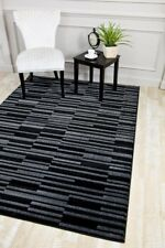RUGS AREA RUGS CARPET FLOORING 5658 BLACK ABSTRACT CARPET LARGE NEW AREA RUG