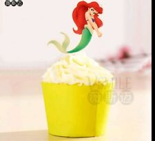 ARIEL THE LITTLE MERMAID CUPCAKE TOPPERS PICKS BIRTHDAY PARTY PRINCESS