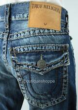 TRUE RELIGION Men's Jeans RICKY SUPER T Flap Pockets Distressed NWT $358