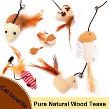 Wooden Pole Hemp Mice Mouse Tease Cats Rods Plaything Environmental Pet Toys