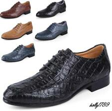 Plus Size Mens Business Shoes Croco Alligator Casual Strappy Pumps Formal Dress