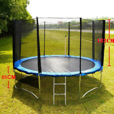 Round Trampoline  Spring Pad Cover Ladder With Safety Net Enclosure 12ft 15ft