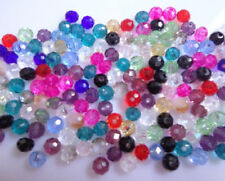 100Pcs 3*4mm Exquisite Rondelles Crystal Glass Loose Spacer Bicone Faceted Beads