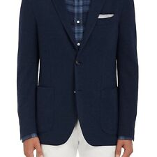 BARNEYS NEW YORK MENS WOOL-COTTON TWO-BUTTON SPORTCOAT