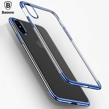 Baseus Luxury Ultra Thin Back Cover Hard PC Plating Case Capinhas For iPhone X