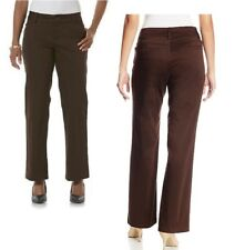LEE Womens Curvy Trouser Twill Pants No Gap Mid Rise size 4 8 10 12 NEW