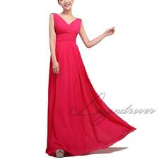 Size 6-14 Womens Formal Long Evening Ball Gown Party Prom Bridesmaid Dress Stock