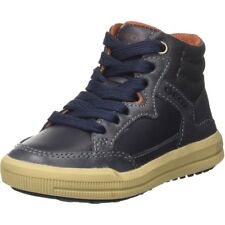 Geox J Arzach D Navy/Brown Leather Youth Boots