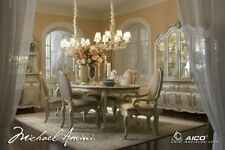 AICO Furniture - Lavelle Blanc 7 Piece Oval Dining Table Set - 54000N-04-7SET