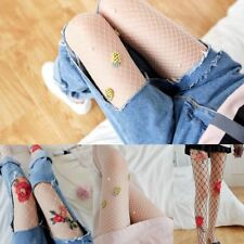 Sexy New Women Transparent Tights Flower Fishnet Silk Stockings Mesh Pantyhose