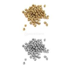 100pcs Antique Silver/Gold Cute Retro Pumpkin Spacer Loose Beads 4mm Findings