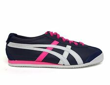 Asics Onitsuka Tiger Women's MEXICO 66 Shoes Navy/White/Pink HL474-5401 Size 6.5