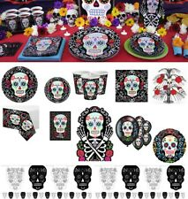 Day Of The Dead HALLOWEEN Party Supplies Tableware Decorations Dark Skulls Theme