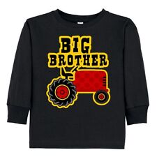 Inktastic Red Tractor Big Brother Toddler Long Sleeve T-Shirt Farm Cute Polka