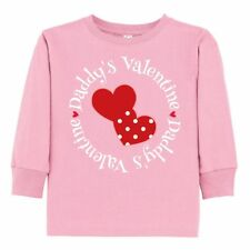 Inktastic Daddys Valentine Girl Heart Toddler Long Sleeve T-Shirt Valentines Day