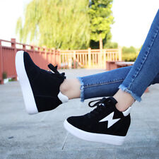 New Womens shoes Lace up Fashion sneakers wedge ankle boots casual shoes oxfords