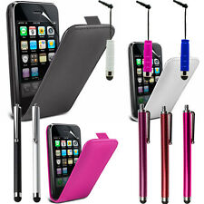 Cases for Apple iPhone 3G/3GS Stylus Phone Flip Pouch Case Cover