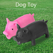Rubber Pet Pig Grunting Animal Squeaky Kids Dog Toys Sound Puppy Chew Play M L
