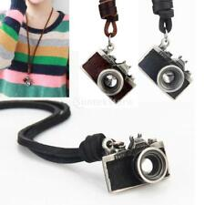 Vintage 3D Photography Camera Pendant Leather Long Necklace Charm Jewelry