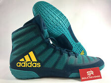 ADIDAS adizero VARNER 2 Wrestling Shoes MMA Boxing Aqua Yellow Blue BA8022