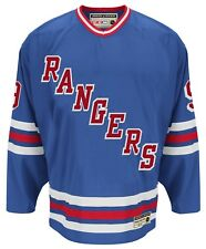 "Wayne Gretzky New York Rangers CCM ""Heroes of Hockey"" Authentic Blue Jersey"