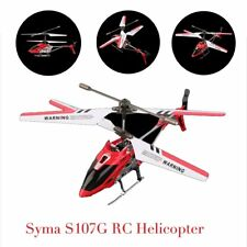 Syma 3 Channel S107G Mini Indoor Co-Axial R/C Helicopter Gyro Red RC LOT EW