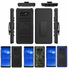 Rugged Hybrid Armor Case Cover Stand Holster Belt Clip For Samsung Galaxy Note 8