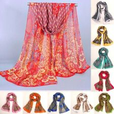 New Women Lady Scarf Long Soft Chiffon Neck Scarf Wrap Shawl Stole Scarves P&P