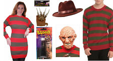 Womens Mens Halloween Film Costume Gloves Claw Skin Stripe Jumper Kids Nightmare