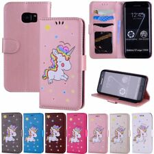 Cute Pattern Leather Card Wallet Case Flip Cover Stand For Samsung Galaxy S7 S8+