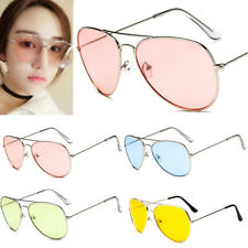 Retro Fashion Unisex Vintage Aviator Sunglasses Women Men Metal Frame Party Hot