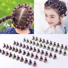 12PCS/Lot Small Cute Crystal Flowers Metal Hair Claws Hair Clip Girls
