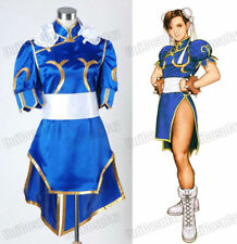 Street Fighter Chun Li Blue Dress Outfit Cosplay Costume Halloween costume