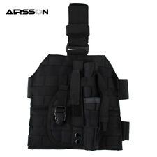 Tactical Pistol Molle Drop Leg Platform Panel With Holster Bag Pouch Military