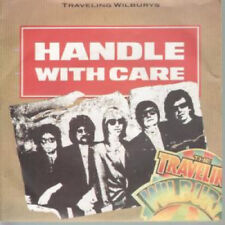 "TRAVELING WILBURYS Handle With Care 7"" VINYL UK Warner Bros 1988 B/W Margarita"