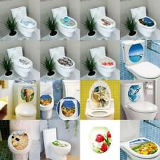 DIY Toilet Seat Wall Sticker Decals Vinyl Art Removable Bathroom Decor - VARIOUS