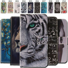 For Nokia Smartphone Flip Card PU Leather Case Stand Shockproof Gel Skin Cover
