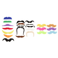 7/10/6Pcs Fake Adhesive Mustache Beard Fancy Dress up Costume Party Supplies
