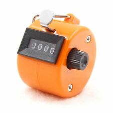 1pc Tally Clicker Counter 4 Digit Number Clicker Golf Digital Chrome Hand Held