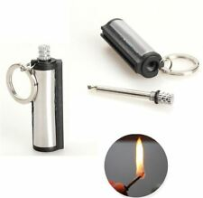 Key Chain Waterproof Fire Starter Capsule Oil Petrol Gas Lighter For Tool