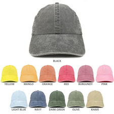 Low Profile Unstructured Pigment Dyed Cotton Twill Baseball Cap - FREE SHIPPING