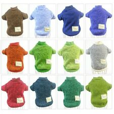 Winter Pet Dog Clothing Coat Jumper Sweater Puppy Velet Lined Knitted Pullover