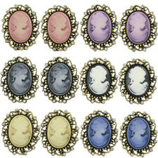 12PCS Vintage Crystal Antique Victorian Cameo Brooch pin Wedding Party Gift