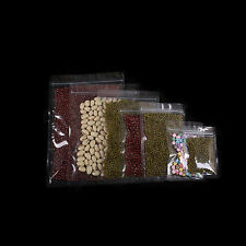New Clear Poly Zip Lock Sample Storage Bags Pouches in Different Quantity Sizes