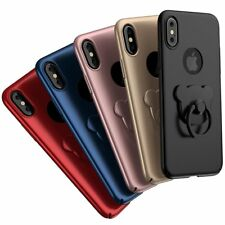 Ring Case Luxury Ultra Thin Hybrid Protective Hard Cover Fitted For iPhone X 10
