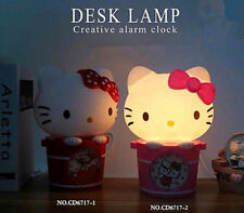 New Hellokitty Light cartoon Desk lamp luminaria nightlight Lamp Beds w/ Clock