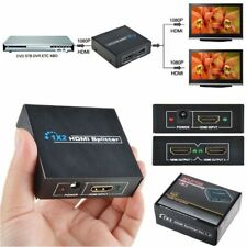 1 input To 2 output HD HDMI Splitter V1.4 3D 1080P 2 Port Hub Repeater Amplifier
