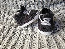 NEW Design Baby Crochet Shoes AU Handmade Knitted Booties 0-3; 3-6 & 6-12 months