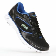 Fila Mens Running Shoes Lace Up Mesh Upper Ancerus 5 Black Blue size 13 NEW