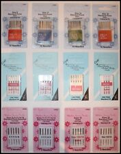 SEWING MACHINE NEEDLES 130/705H STANDARDFIT/BALLPOINT/LEATHER/JEANS